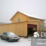 Дом с гаражом и баней из СИП