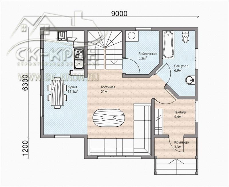Проект дома по канадской технологии