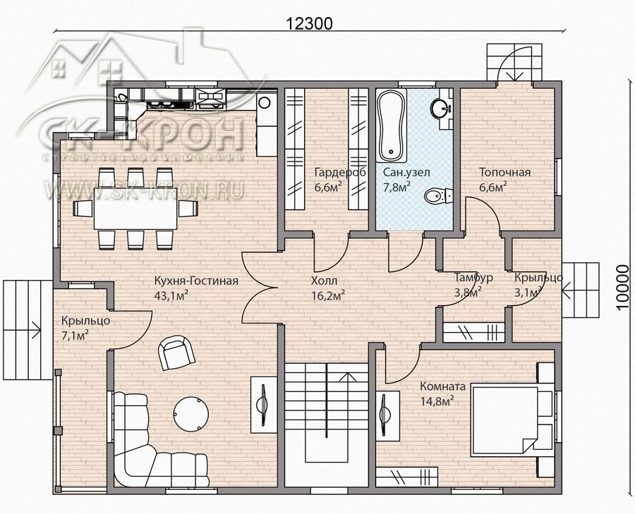 Проект дома 2-этажного дома из sip панелей