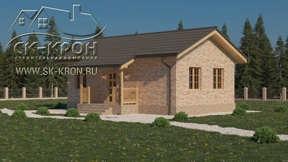 Проект небольшого каркасного дома