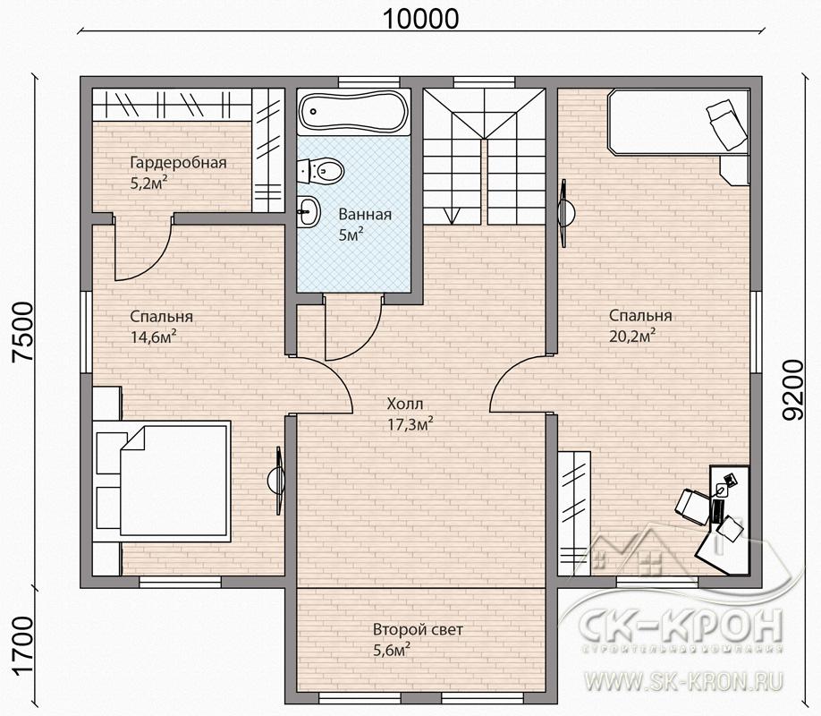 Пример проекта дома из СИП-панелей