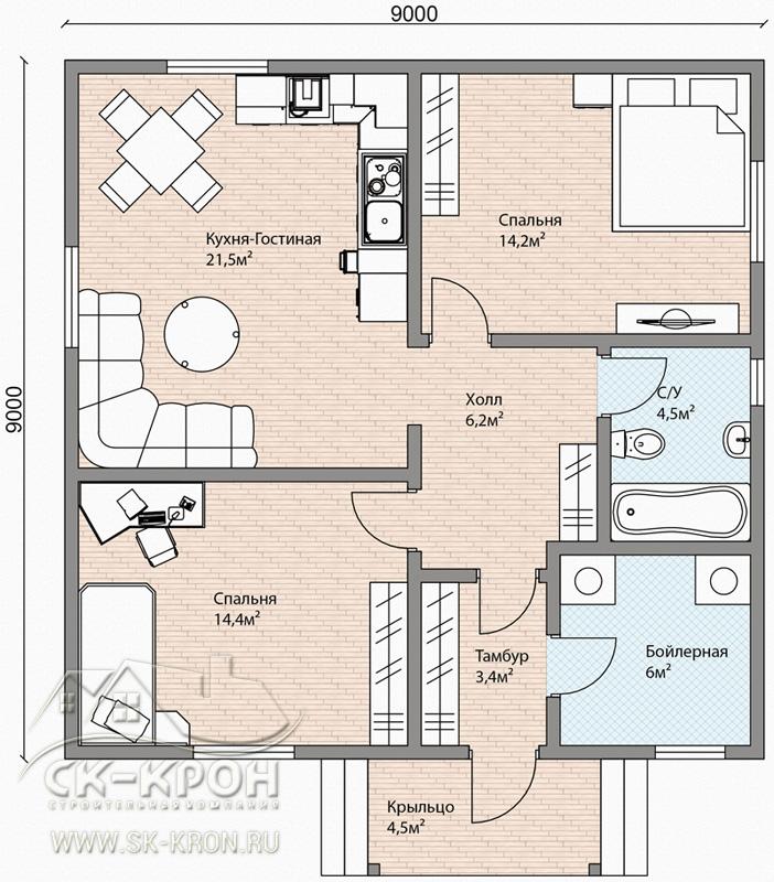 Проекты домов от 80 кв.м., цены в Кургане