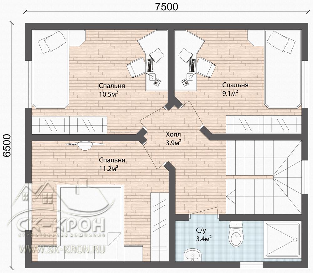 Проект СИП-дома 101 кв.м.