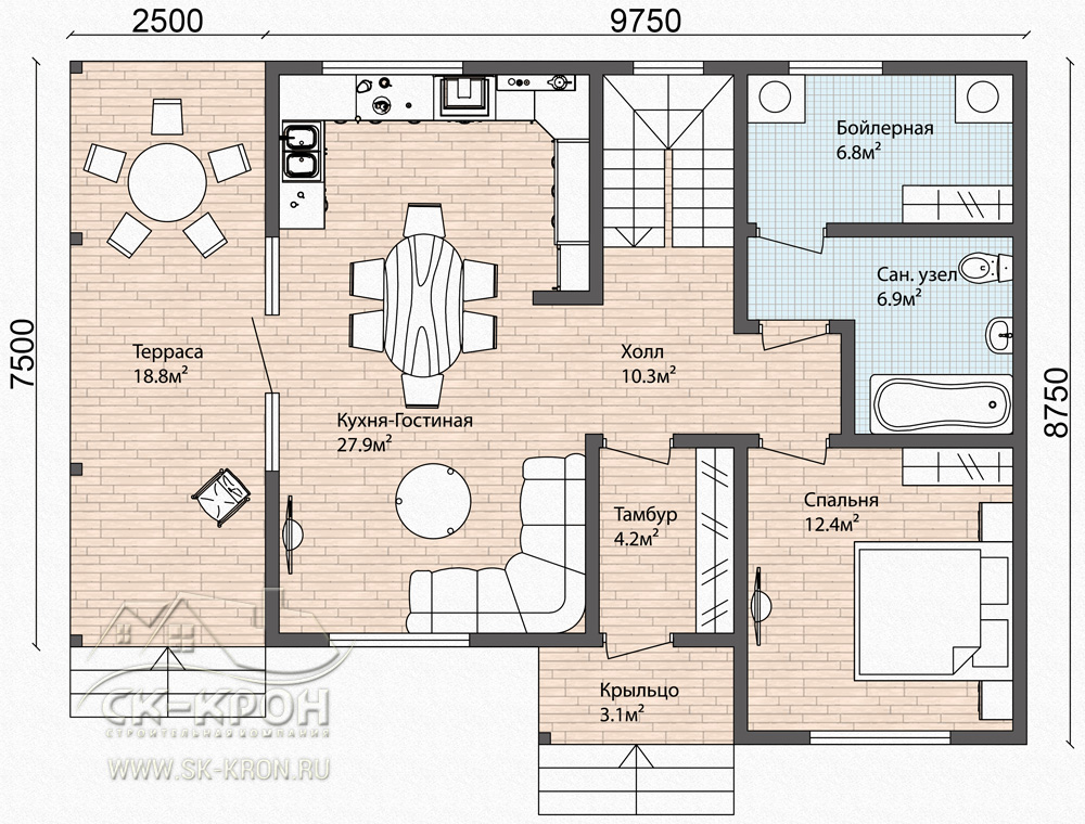 Проект СИП-дома 160 кв.м.