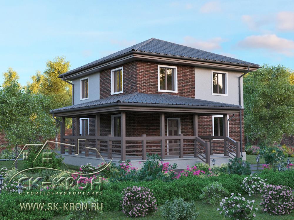 Проект 3D двухэтажного дома