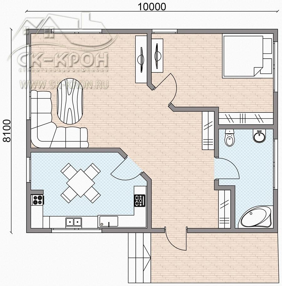 Проект и постройка дома за 1000000 руб.