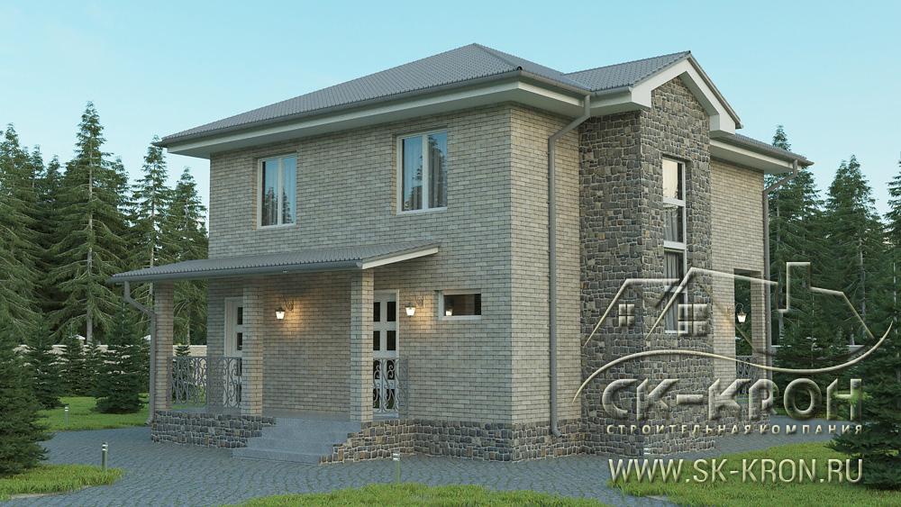 Проект каркасного дома 150 кв.м.