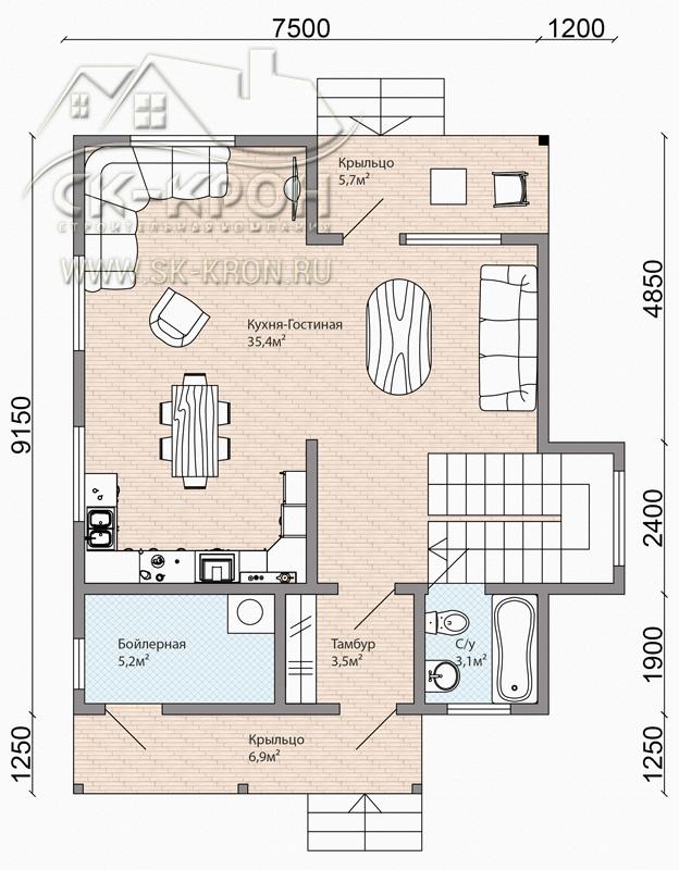 Проект дома 150 кв.м