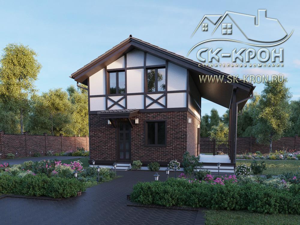 3D проект дома 118 м.кв.