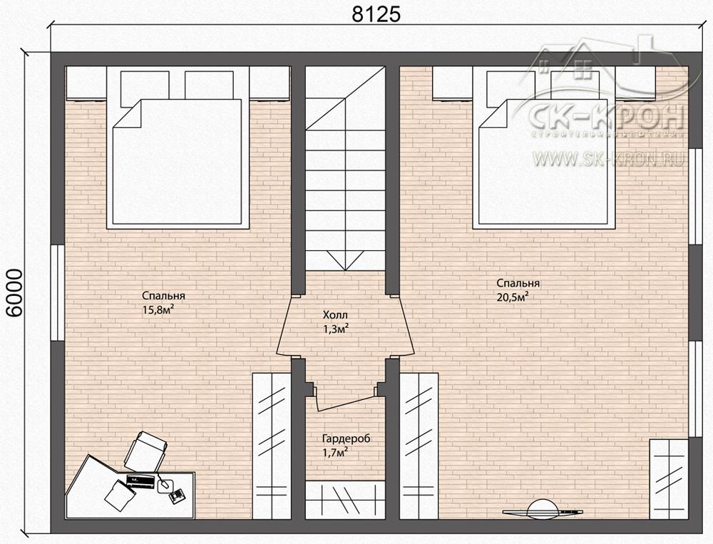 Проект дома из СИП 118 кв.м.