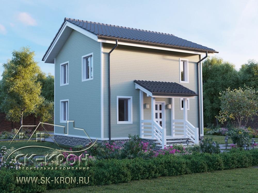 3D проект дома 2 этажа