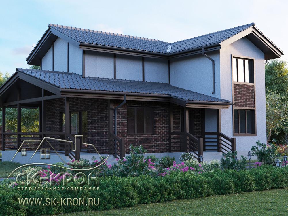 3D проект дома из SIP-панелей 163 кв.м.